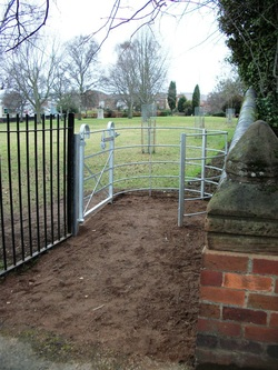 New Gate fitted in St. George's Park along the Coventry Street side