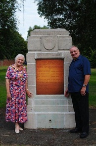 Kidderminster Mayor, Anne Hingley, and local resident George Green by the historic plaque
